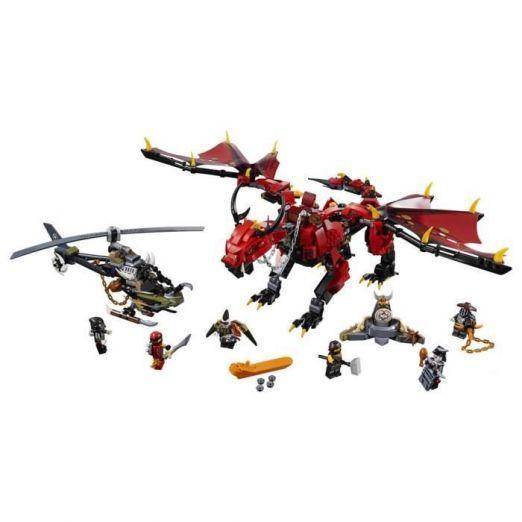 LEGO Ninjago Rdeči zmaj komplet LEGO kock cena