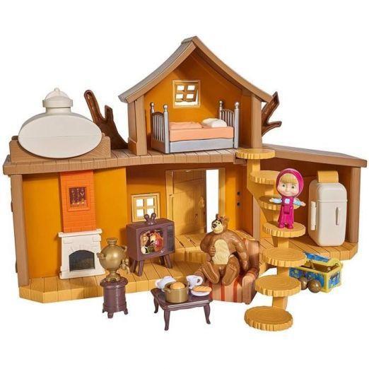 Maša in medved hišica z dodatki in figuricami
