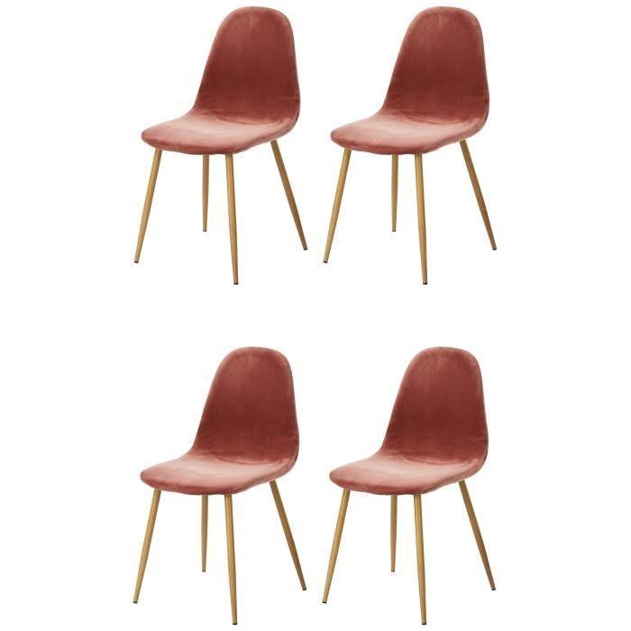 Bež jedilniški stoli - 4 kosi - lesene noge