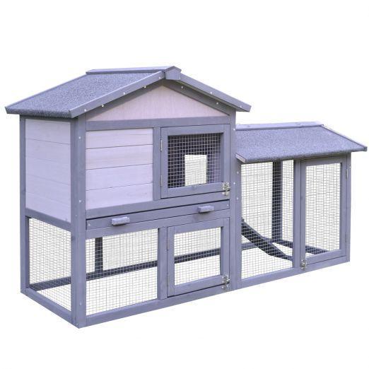 Lesena hišica za zajce ali druge male živali