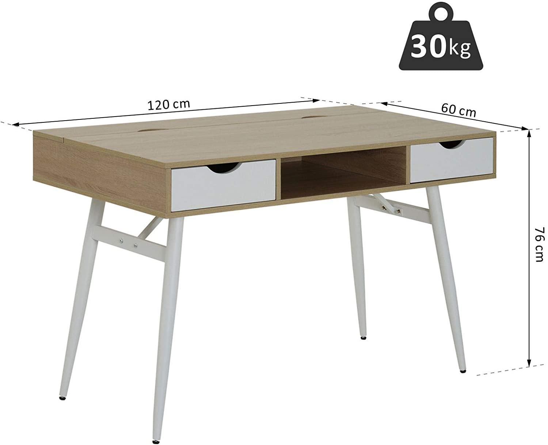 Lesena pisalna miza DAISY - 120 x 60 x 76 cm