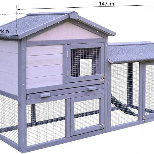 Lesena hišica za zajce ali druge male živali cena