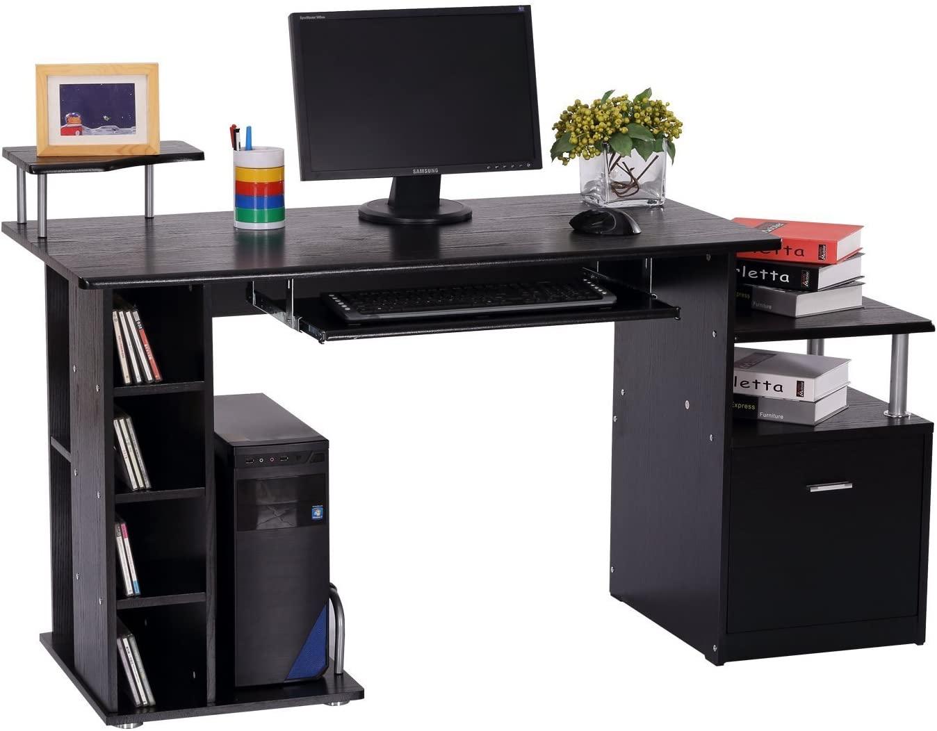 Črna pisalna miza modernega dizajna