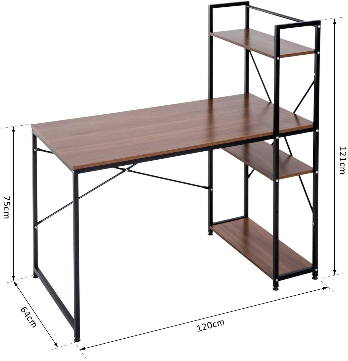 Računalniška pisalna miza MODE - s knjižnimi policami