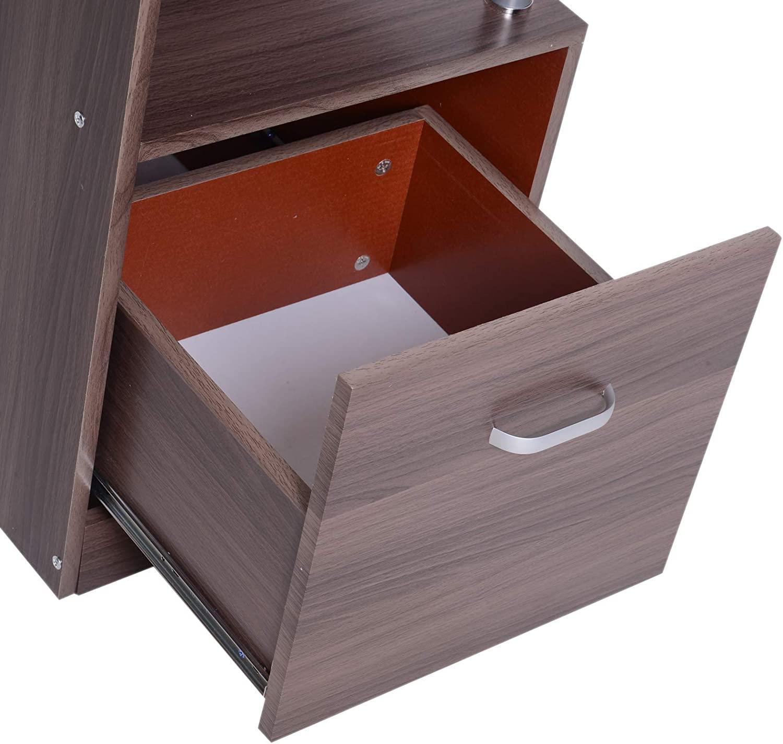 Lesena računalniška miza z veliko predali nizka cena