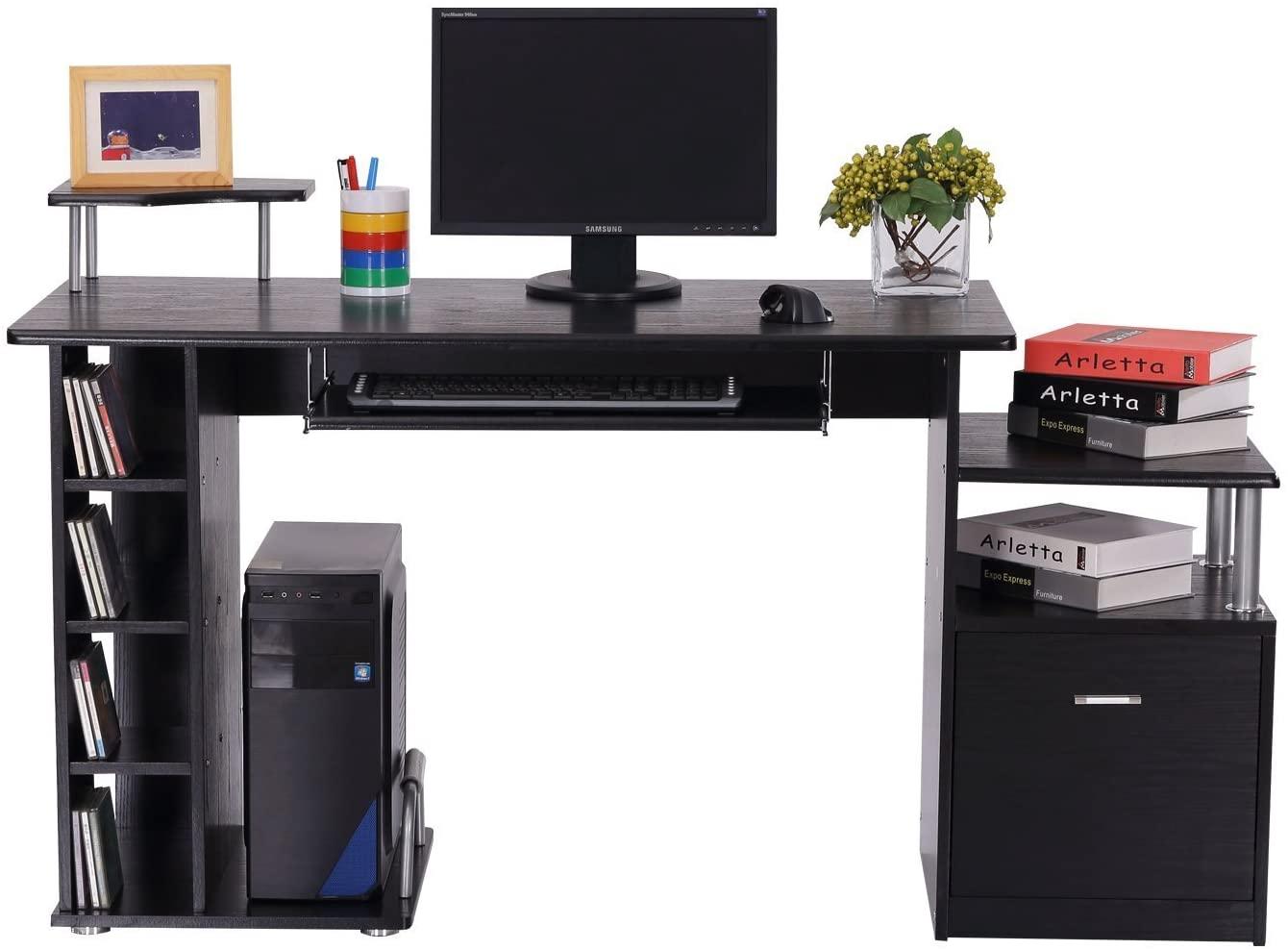 Črna pisalna miza modernega dizajna cena
