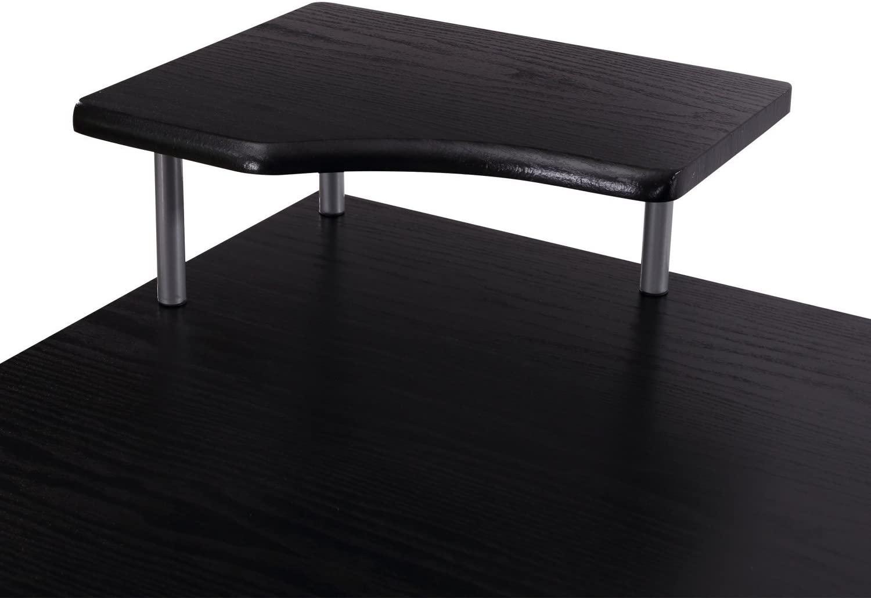 Pisarniška miza v črni barvi ugodno