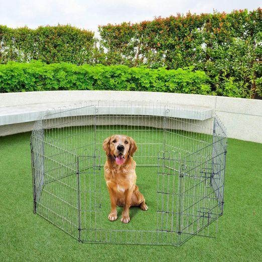 Prostorna kletka za pse v osemkotniku cena