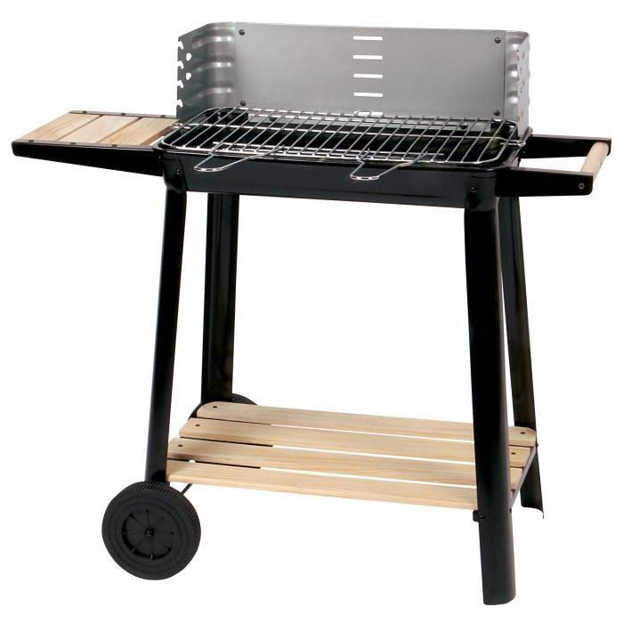 Žar z ogljem za peko - kromiano jeklo - 84.5 x 42 x 78.5 cm