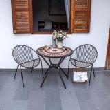 Komplet vrtne mize in stolov – mozaični slog – 80 cm x 74 cm