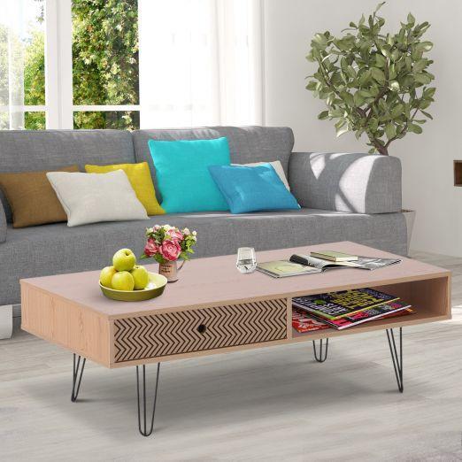 Klubska mizica s predalom modernega dizajna cena