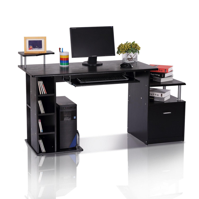 Črna pisalna miza BLACKY - 152 x 60 x 88 cm