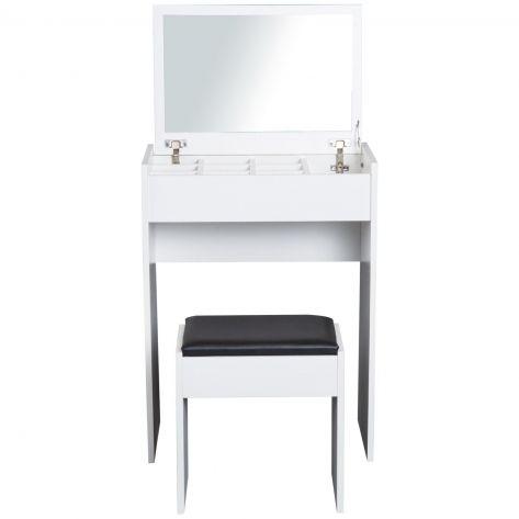 Kozmetični organizator – z ogledalom in stolom